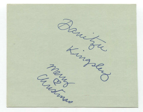 Danitza Kingsley Signed 4x5 Index Card Autographed Signature Star Trek TNG