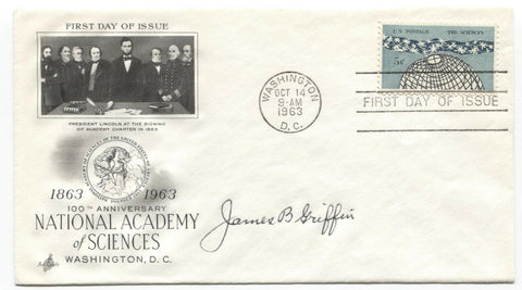 James Bennett Griffin Signed FDC First Day Cover Autographed Archaeologist