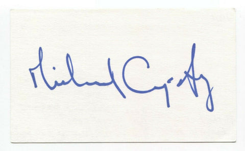Michael Cumpsty Signed 3x5 Index Card Autographed Signature Actor