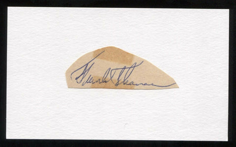 Frank Thomas Signed Cut Autographed Index Card Circa 1962 Baseball Signature