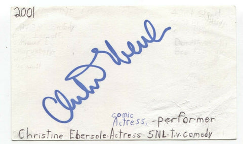 Christine Ebersole Signed 3x5 Index Card Autographed Signature Actress