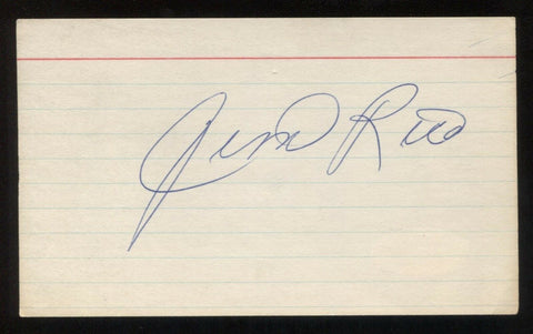 Jim Rice Signed 3x5 Index Card Autographed Vintage Baseball Hall of Fame