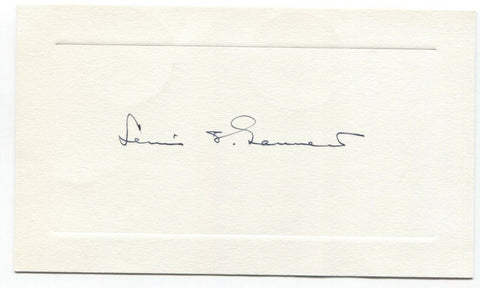 Lewis Gannett Signed Card Autographed Signature Writer Author