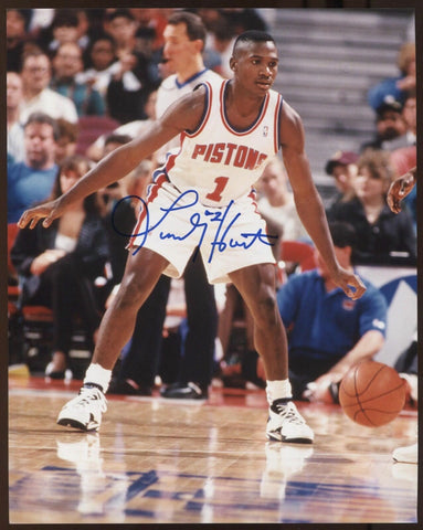 Lindsey Hunter Signed 8x10 Inch Photo Vintage Autographed Signature Basketball