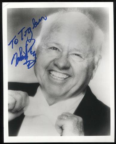 "Mickey Rooney Signed 8x10 Photo Photo Autographed Photograph Signature ""Tyler"""