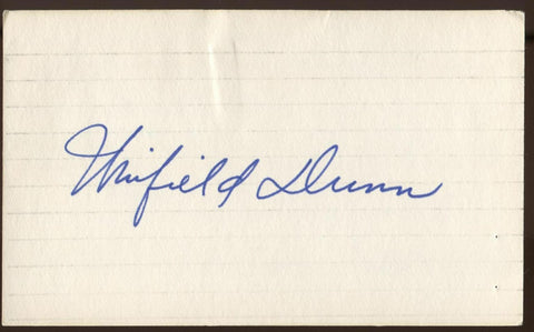 Winfield Dunn Signed Index Card Autographed Signature AUTO United States Senator