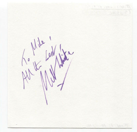 "Matthew White Signed Page Autographed Signature Inscribed ""To Mike"" Actor"
