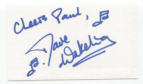 English Beat - Dave Wakeling Signed 3x5 Index Card Autographed Signature Band