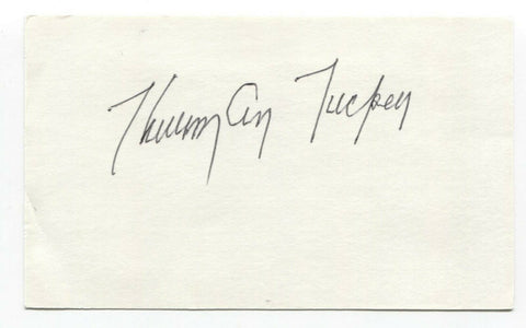 Thurman Tucker Signed Index Card Autographed Baseball 1948 Cleveland Indians