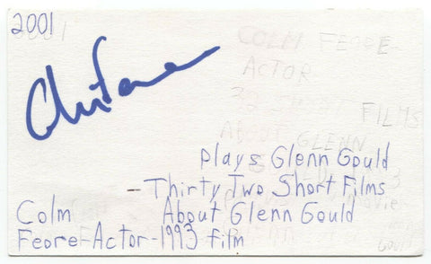 Colm Feore Signed 3x5 Index Card Autographed Signature Actor Umbrella Academy