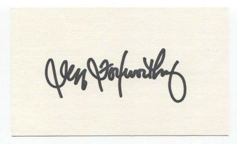 Jeff Foxworthy Signed 3x5 Index Card Autographed Vintage Signature