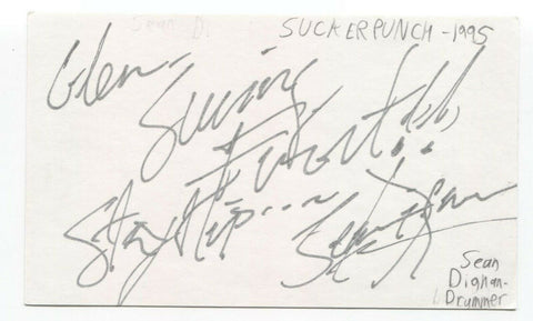Suckerpunch - Sean Dignan Signed 3x5 Index Card Autographed Signature
