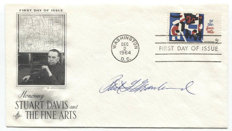 Paul Granlund Signed FDC First Day Cover Autographed Sculptor Signature