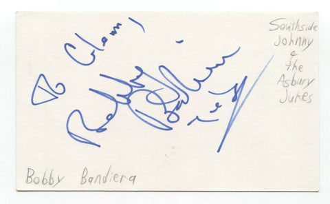 Southside Johnny and the Asbury Jukes Signed 3x5 Index Card Autographed