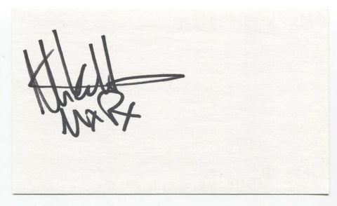 Mike Herrera Signed 3x5 Index Card Autographed Signature MXPX