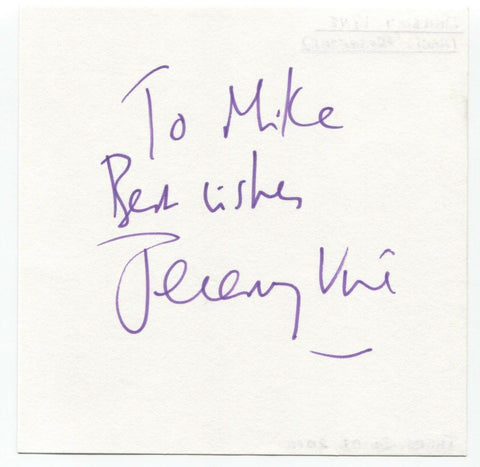 "Jeremy Vine Signed Album Page Autographed Signature ""To Mike"" Actor"