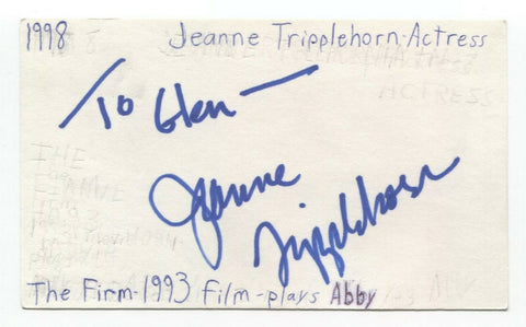 Jeanne Tripplehorn Signed 3x5 Index Card Autographed Basic Instinct Waterworld