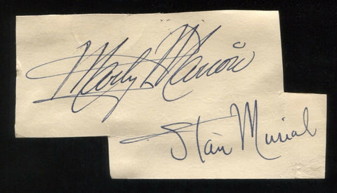 Marty Marion Vintage Signed Autograph Cut Clipped From a GPC Signature