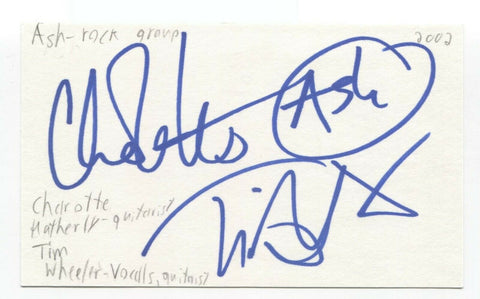 Ash - Charlotte Hatherley - Tim Wheeler Signed 3x5 Index Card Autographed Band