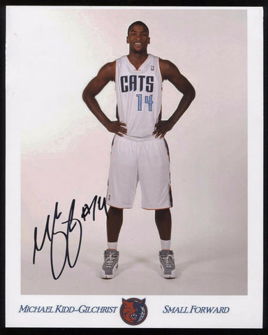 Michael Kidd-Gilchrist Signed8x10 Promo Photo Autographed Basketball Signature