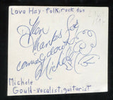 Lava Hay - Michele Gould Signed Cut 3x5 Index Card Autographed Band
