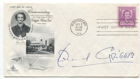 Leonard Gribble Signed FDC First Day Cover Autographed Vintage Signature