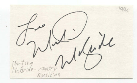 Martina McBride Signed 3x5 Index Card Autographed Signature Country Singer