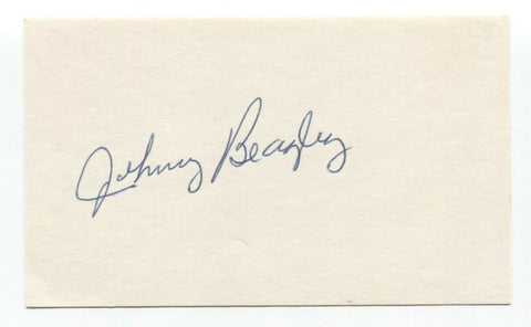 Johnny Beazley Signed Index Card Autographed Baseball 1946 St Louis Cardinals