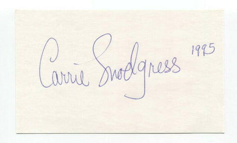 Carrie Snodgress Signed 3x5 Index Card Autographed Actress Signature