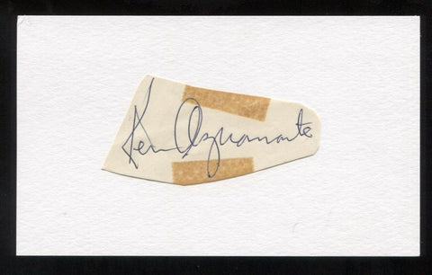 Ken Aspromonte Signed Cut Autographed Index Card Circa 1962 Baseball Signature