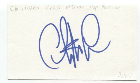 Christopher Cross Signed 3x5 Index Card Autographed Signature Singer Songwriter