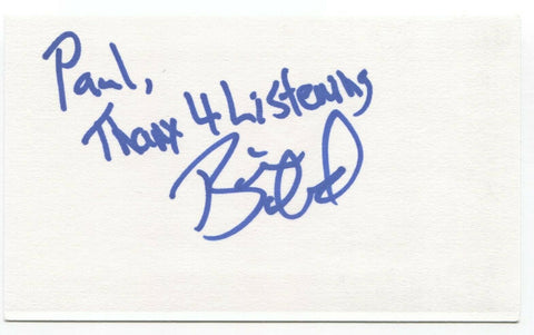 Elwood - Brian Boland Signed 3x5 Index Card Autographed Signature Band