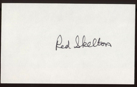 Red Skelton  Signed Index Card Autographed Signature Vintage AUTO