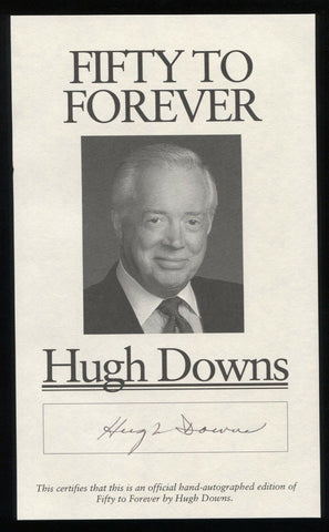 Hugh Downs Signed Book Page Cut Autographed Cut Signature 20/20