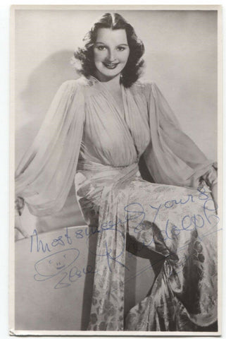 Elsie Randolph Signed Photo Post Card Autographed Signature Actress Hitchcock