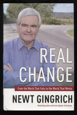"Newt Gingrich Signed Book ""Real Change"" Autographed First Edition 1st"