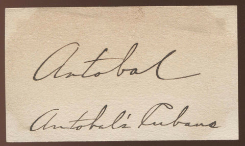 Don Mario Antabal - Antobals Cubans Leader Signed Card 1932 Autographed AUTO