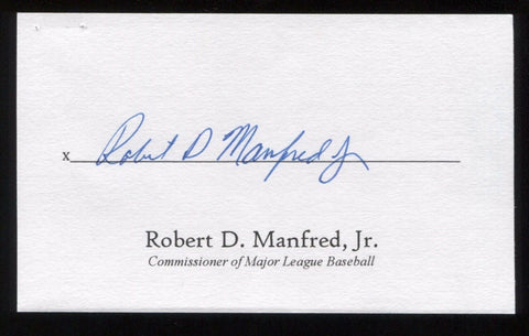 Rob Manfred Signed 3x5 Index Card Signature Autographed Baseball Commissioner