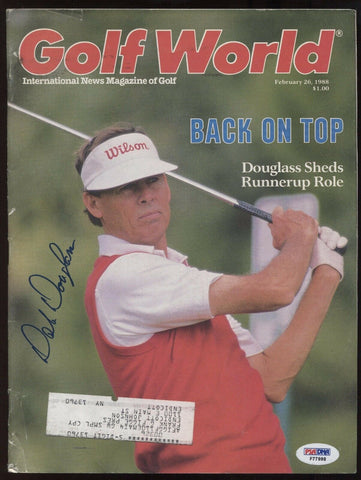 Dale Douglas Signed Golf World Magazine PSA/DNA Autographed 2/26/1988