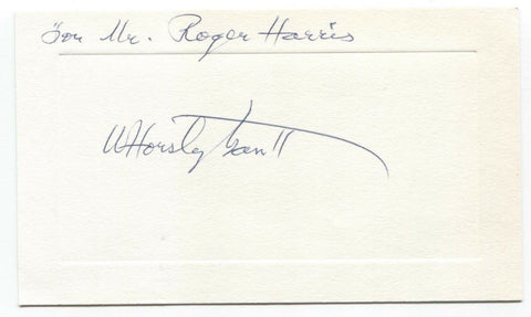 Dr. W. Horsley Gantt Signed Card Autographed Signature PAVLOV Researcher