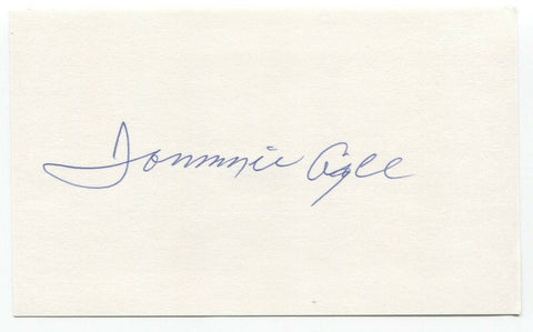 Tommie Agee Signed 3x5 Index Card PSA/DNA Autograph Baseball 1969 New York Mets