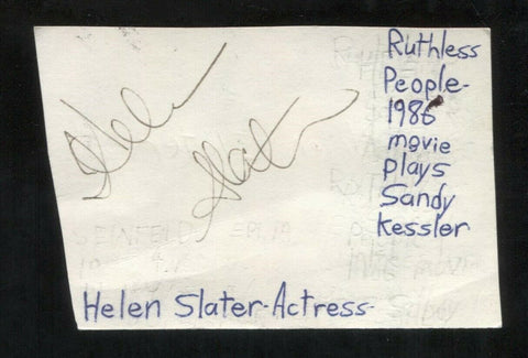 Helen Slater Signed Cut 3x5 Index Card Autographed Signature Actress Supergirl