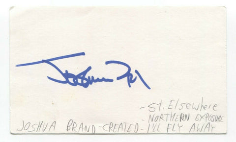 Joshua Brand Signed 3x5 Index Card Autograph Director Producer Norther Exposure