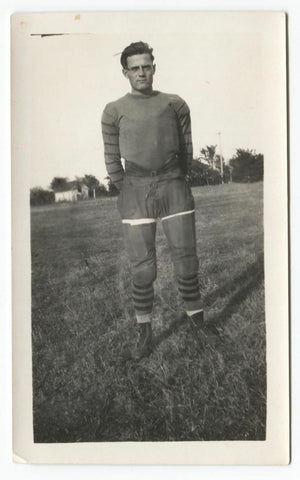 1924 Leif Fjellstad Augustana College Football Type 1 Original Snapshot Photo