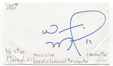 Wynton Marsalis Signed 3x5 Index Card Autographed Signature Musician