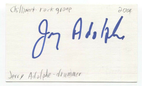 Chilliwack - Jerry Adolphe Signed 3x5 Index Card Autographed Signature Band