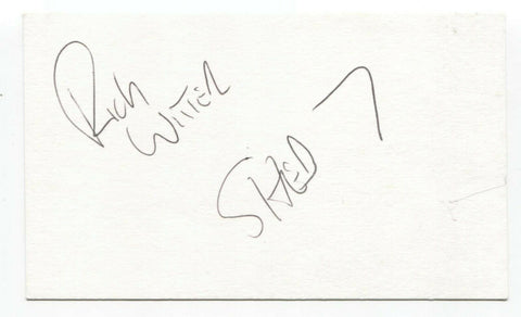 Shed Seven - Rick Witter Signed 3x5 Index Card Autographed Signature