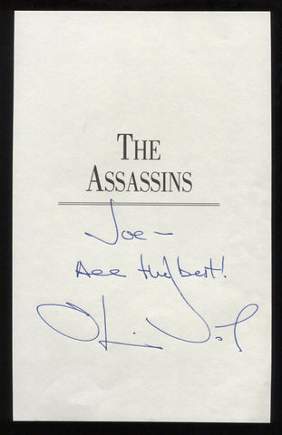 Oliver North Signed Book Page Cut Autographed Cut Signature
