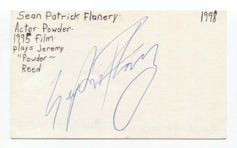 Sean Patrick Flanery Signed 3x5 Index Card Autographed Boondock Saints Powder