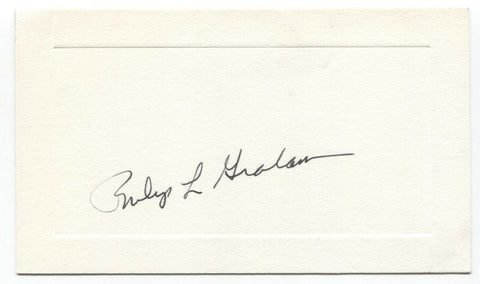 Phil Graham Signed Card Autographed Signature Washington Post Owner Publisher